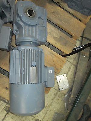 Sew-eurodrive Gear Motor Ka57tdv112m4bmgth 4kw 1730-229rpms 3ph Used