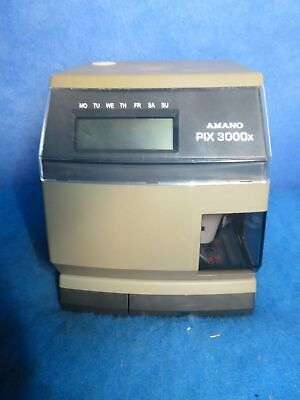 New Amano Pix 3000x Time Recorder Wo Key 1 Year Warranty