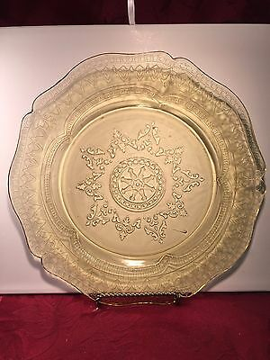 "Federal Glass ""Patrician"" Amber Dinner Plate"