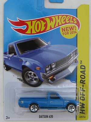 2014 Hot Wheels Kmart Exclusive #139 HW Off-Road Hot Trucks DATSUN 620 Blue w5Sp