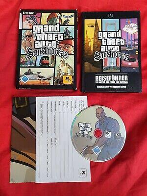 GTA San Andreas PC Spiel mit Poster Plakat Stadkarte und Reiseführer OVP ()
