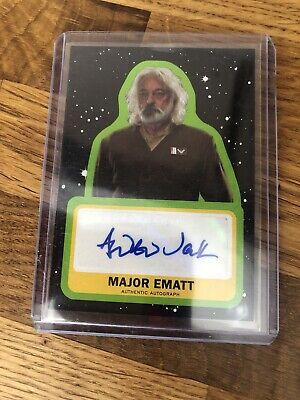 Star Wars Trading Card Autograph Card Auto Jack As Major Ematt A-AJ