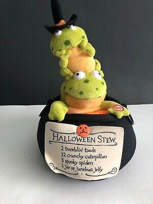 Hallmark Halloween Witches Stew Singing Tremblin Toads Plush Animated - Halloween Witches Stew