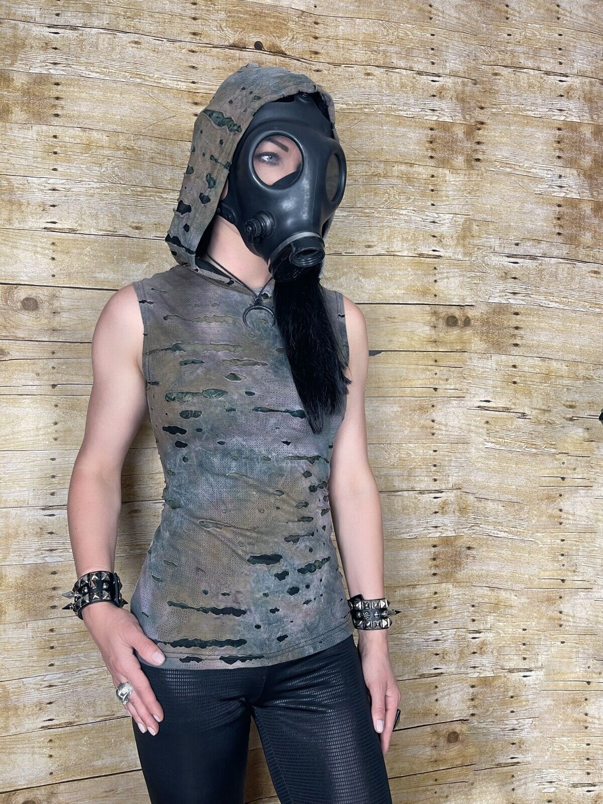 SHRINE DECAYED CAMO ROCK GOTHIC CYBER PUNK STEAMPUNK SHIRT HOODIE ZOMBIE MAD MAX Activewear