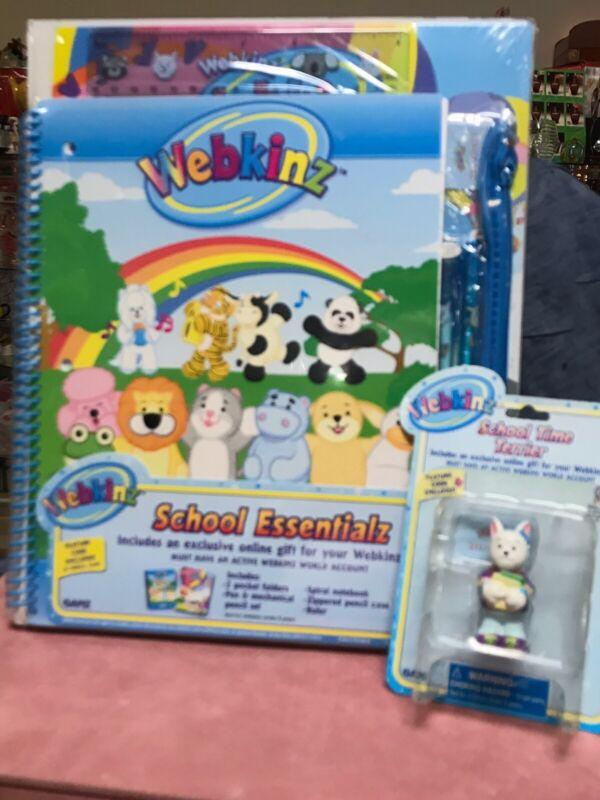 Webknz School Kit 7 Pc Set & School Time Terrier Figurine M14-D