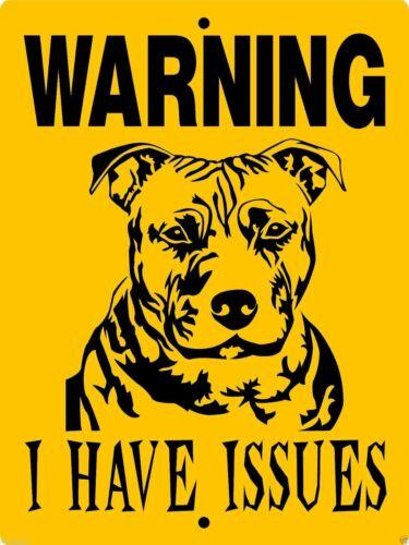 "0605 Pit Bull Terrier 9""x12"" Aluminum Sign"