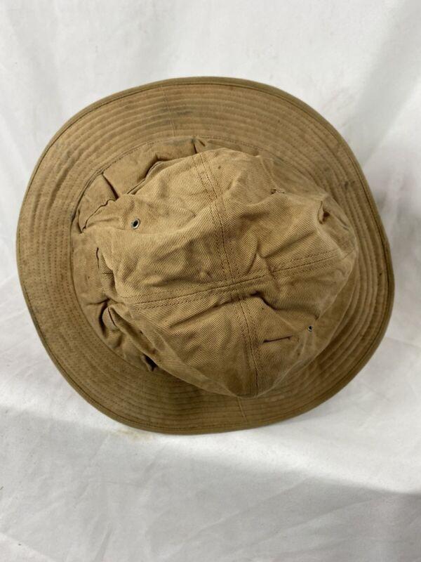 Pre Wwii US Army Brown Daisy Mae Bucket Hat Denim