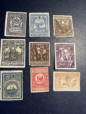 1922 Armenia Mint  Hinged 9 Pcs Stamps , See Photos For Condition