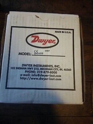 Dwyer Instruments Dh3-010 - 0-50wc Diff Pressure Switch