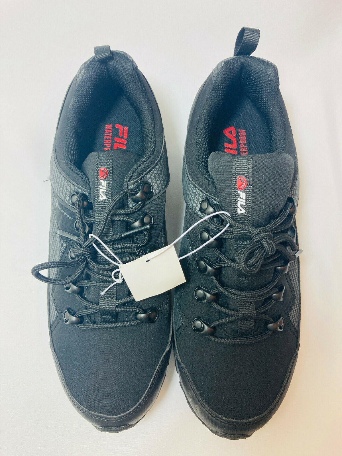 NEW! Fila Men's Switchback 2 Water Proof Hiking Shoe Black/G