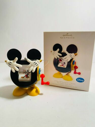 Disney Hallmark Keepsake 2009 It Was All Started By a Mouse Christmas Ornament