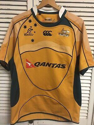 6aed5772df7 Australia Wallabies Authentic Team Replica Rugby Jersey Canterbury Men's  Medium