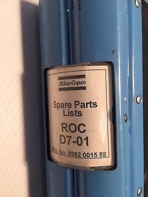 Atlas Copco Roc D7-01 Hydraulic Track Drill - Parts Manual Catalog