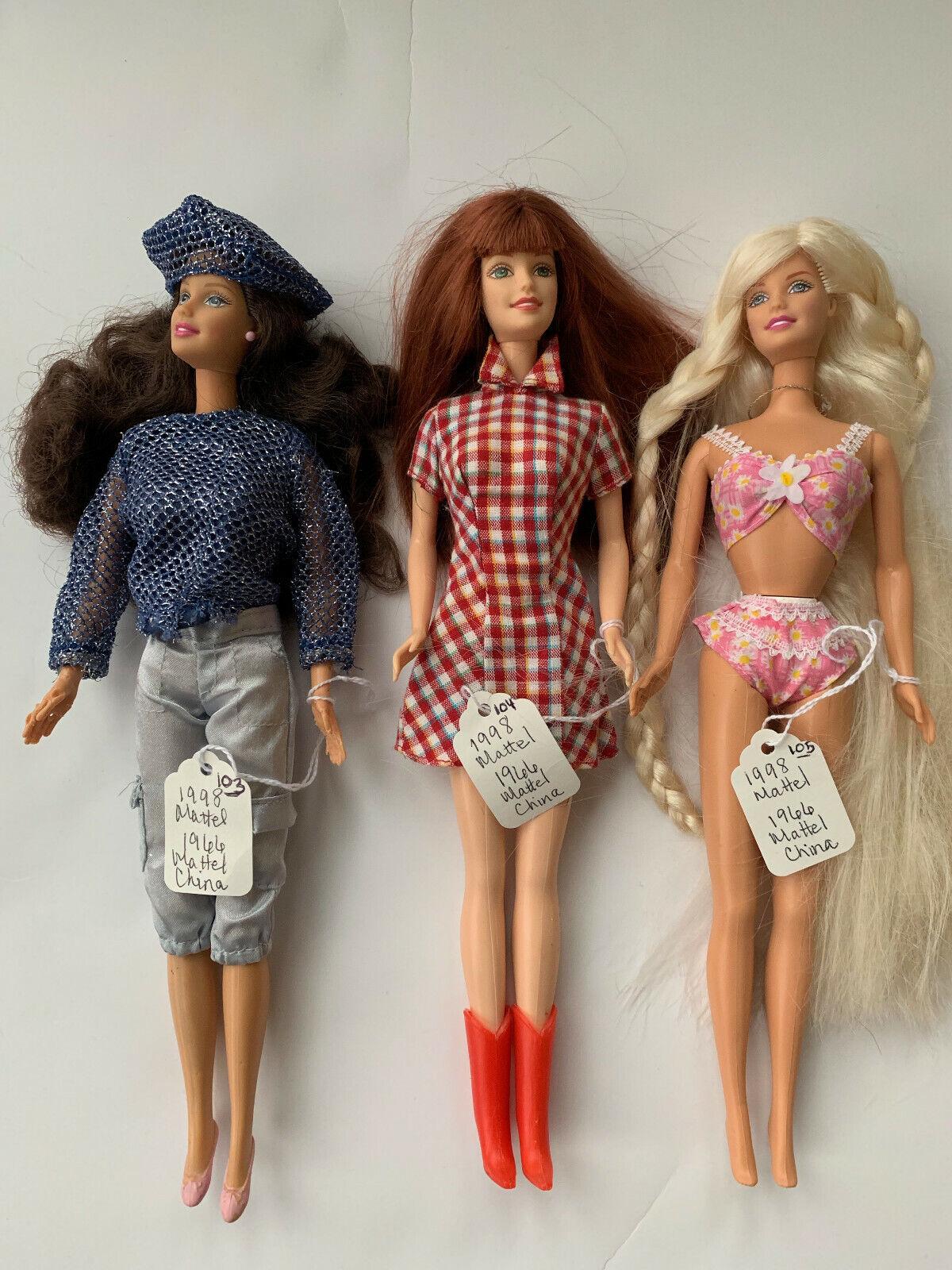 1998 Vintage Mattel Barbie Dolls Authentic  - $27.95