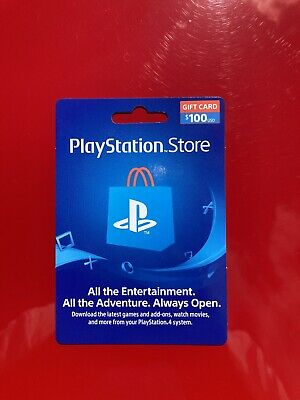 Physical PlayStation Network PSN PS4 Gift Card 100$ Activated w Receipt