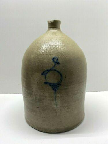 Vintage 3 Gallon Salt Glazed Stoneware Jug w/ Cobalt Blue Bee Sting