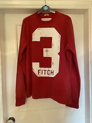 Abercrombie And Fitch Mens Red Long Sleeved Top. XXL. Excellent Condition