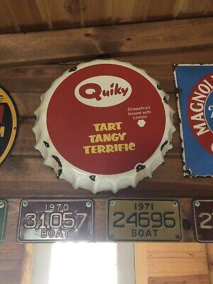 Vintage Porcelain Soda Pop Top Sign Original Not A Remake
