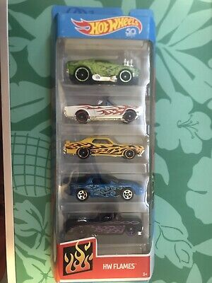 Hot Wheels 5 Pack HW Flames NEW Sealed Unopened Cars