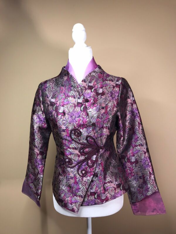Chinese Traditional Women Clothing Jacket Top Size Small