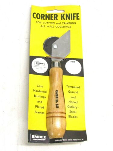 EMBEE #141 CORNER KNIFE FOR CUTTING & TRIMMING ALL WALL COVERINGS / WALLPAPER