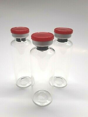 30ml Sterile Clear Glass Vials - 10 Pack - Free Shipping