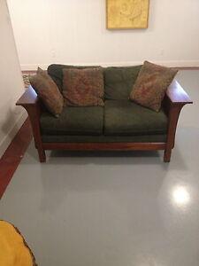 Solid Wood Frame Loveseat