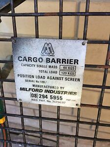 milford cargo barrier fitting instructions 80 series