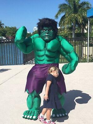 Der Hulk Avengers Superhelden Maskottchen Kostüm Party Charakter Geburtstag