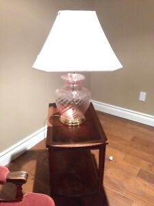 Glass blown table lamp. Great condition