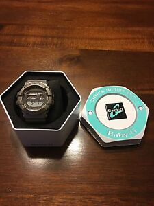*new* silver baby-G shock resist watch