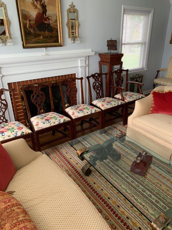 Set Of 6 BAKER Historic Charleston Mahogany Dining Room Chairs