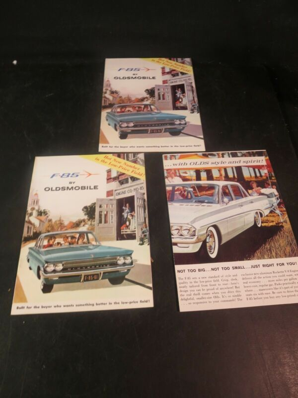 3 Original 1961 Oldsmobile Sales Brochures