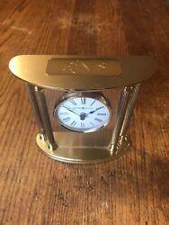 Howard Miller 645-217 New Orleans Brass  Tabletop Mantle Clock Works Good