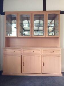 Timber and Glass Display Cabinet with Cupboards Eltham Nillumbik Area Preview
