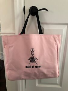 MAID OF HONOR pink tote $12