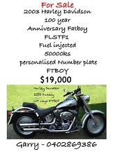 Harley Davidson 2003 Anniversary Fatboy Rosebery Palmerston Area Preview