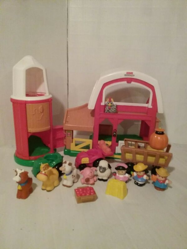 Fisher Price Little People HAPPY SOUNDS FARM BARN SILO with extras