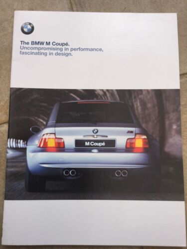 The BMW M Coupe 1998 Sales Brochure   In Excellent condition
