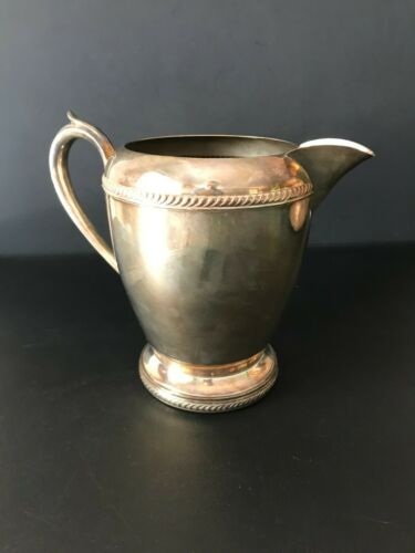 F. B. Rogers Silver Co trademark 1883 Silver on Copper #7507 Water Pitcher