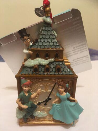 Disney Peter Pan Big Ben Clock Wendy Christmas Sketchbook Hanging Ornament New..