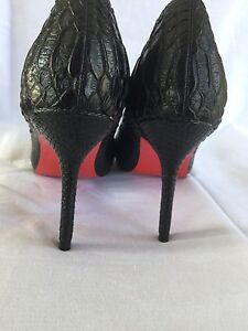 Snake Skin Style Louboutin Shoes with Dust Bag Size 8