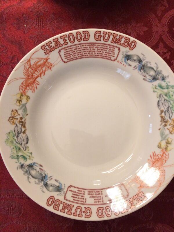 LJungberg Seafood Gumbo Bowls, Set of 4, Rare vintage, still have Japan sticker
