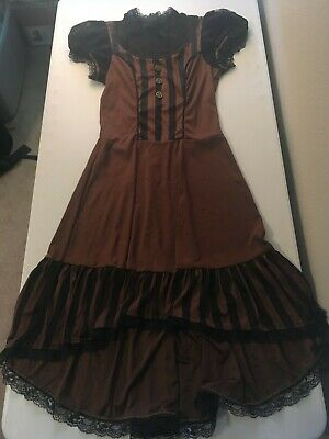 Steampunk Girl Tween Halloween Costume - Size 12/14