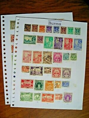 BURMA COLLECTION FINE USED/MINT ON ALBUM PAGES