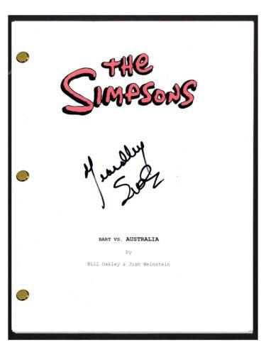 Yeardley Smith Signed Autograph THE SIMPSONS Bart Vs Australia Script Lisa COA