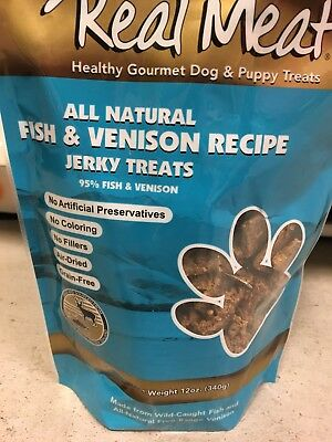 Real Meat Treats - Jerky Dog Treats - 12 oz. Fish And Venison Flavor