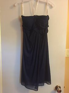 Navy Blue bridesmaid dress