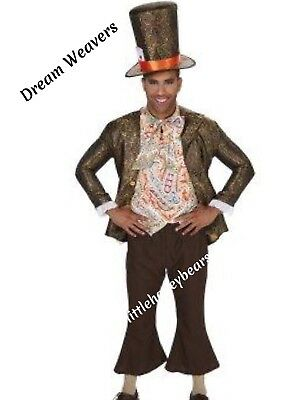 🎩Jacquard Mad Hatter Mens Halloween Costume New In Pkg  Complete Outfit Large - Mad Hatter Halloween Costume Men