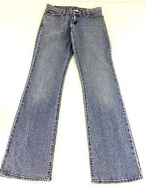 LUCKY BRAND WOMENS BLUE LIGHT WASH COTTON MID-RISE FLARE JEANS SIZE 6 / 28 CUTE